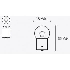 Boite de 10 ampoules V PARTS G18 6V-10W