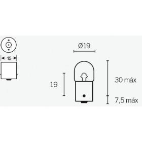 Boite de 10 ampoules V PARTS R5 12V-5W