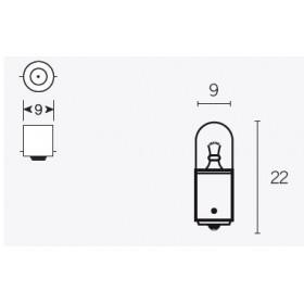 Boite de 10 ampoules V PARTS T8.5 12V-4w