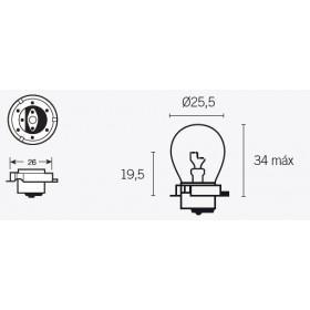 Boite de 10 ampoules V PARTS S3 6V-15W