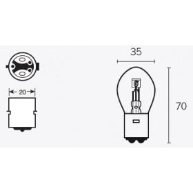 Boite de 10 ampoules V PARTS B35 6V-35/35w