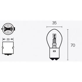 Boite de 10 ampoules V PARTS B35 12V-35/35W