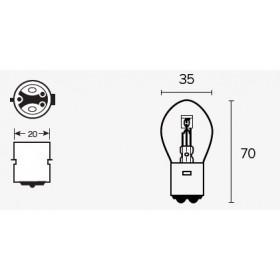 Boite de 10 ampoules V PARTS S1 12V25/25w