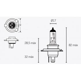 Boite de 10 ampoules V PARTS H4 12V60/55W