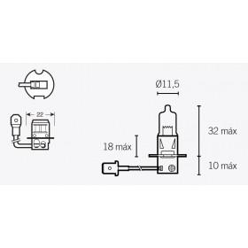 Boites de 10 ampoules V PARTS H3 12V55