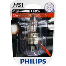 BOITE DE 10 AMPOULES TYPE HS1 PHILIPS CITY VISION MOTO