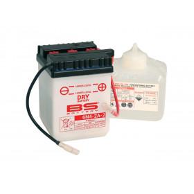 Batterie BS 6N4-2A conventionnelle livrée avec pack acide