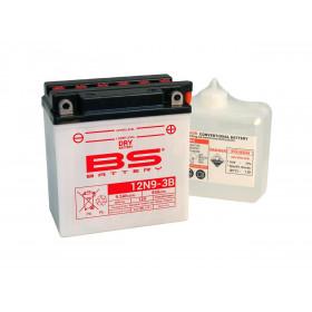 Batterie BS 12N9-3B conventionnelle livrée avec pack acide