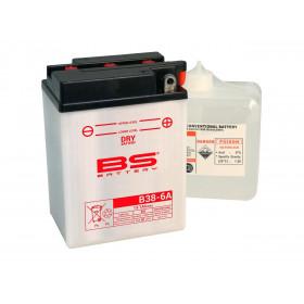 Batterie BS B38-6A conventionnelle livrée avec pack acide