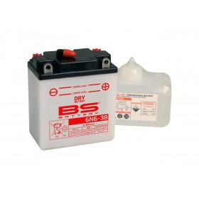 Batterie BS 6N6-3B  conventionnelle livrée avec pack acide