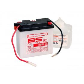 Batterie BS 6N4B-2A conventionnelle livrée avec pack acide