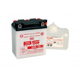 Batterie BS 6N6-3B-1 conventionnelle livrée avec pack acide
