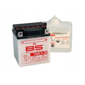 Batterie BS 12N5.5A-3B conventionnelle livrée avec pack acide