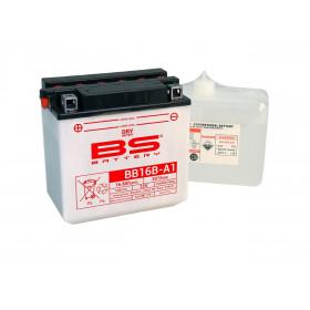 Batterie BS BB16B-A1 conventionnelle livrée avec pack acide