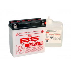 Batterie BS12N5.5-3B conventionnelle livrée avec pack acide