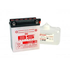 Batterie BS 12N5-3B conventionnelle livrée avec pack acide