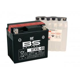 Batterie BS BTX5L-BS sans entretien livrée avec pack acide