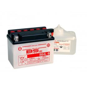 Batterie BS BB4L-B conventionnelle livrée avec pack acide