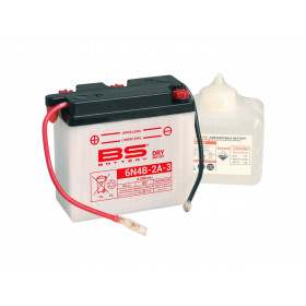 Batterie BS 6N4B-2A-3 conventionnelle livrée avec pack acide
