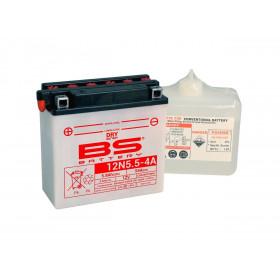 Batterie BS 12N5.5-4A conventionnelle livrée avec pack acide