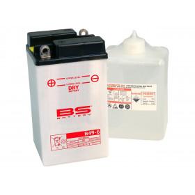 Batterie BS B49-6 conventionnelle livrée avec pack acide