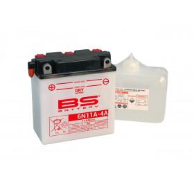 Batterie BS 6N11A-4 conventionnelle livrée avec pack acide
