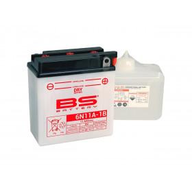 Batterie BS 6N11A-1B  conventionnelle livrée avec pack acide