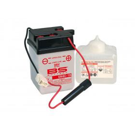 Batterie BS 6N4C-1B conventionnelle livrée avec pack acide