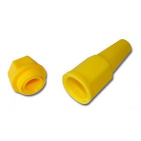 Porte bougie BIHR jaune