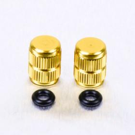 Bouchons de valve Pro-Bolt alu or par paire