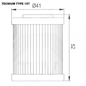 Filtre à huile TECNIUM type 157