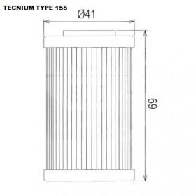 Filtre à huile TECNIUM type 155