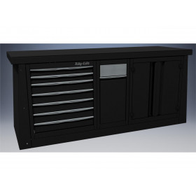 Meuble 2m BIKE LIFT 7 tiroirs/armoire/poubelle