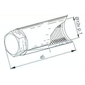 Embout de protection de vilebrequin BUZZETTI M12x1,00/L45mm pour arrache-volant