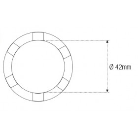 Douille à créneaux JMP pour colonne de direction Øint.42mm 6 crans