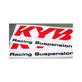 Kit autocollants KYB rouge