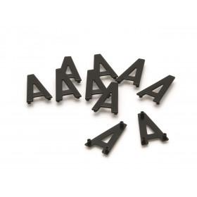 """Caractères PLAQUES 4,5cm pré-percées """"W"""" PRO PLAQUES 4,5cm 10 pièces"""