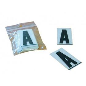"""Caractères PLAQUES 4,5cm PVC """" W"""" PRO PLAQUES 4,5cm 50 pièces"""