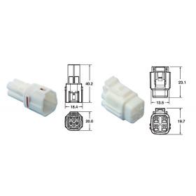 Jeu de connectiques 4 voies série 090 SMTO BIHR type origine Ø0,85mm²/1,25mm² - 5 jeux complets