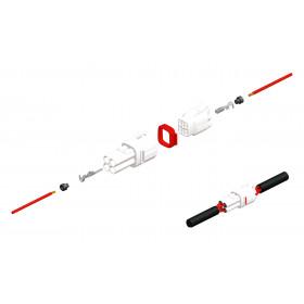 Connectique femelle série 090 SMTO BIHR type origine 2 voies noir - 5 pcs