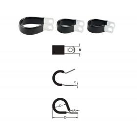 Serre-câble BIHR inox caoutchouc fin Ø14,3mm