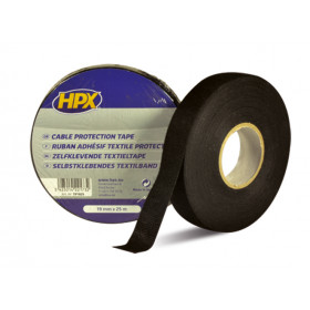 Ruban adhésif coton noir HPX