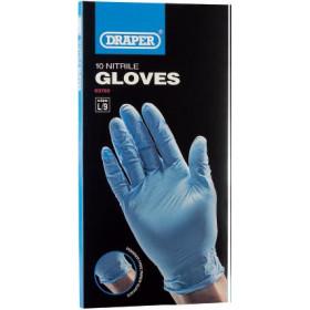 Gants de protection DRAPER nitrile bleu (10 pièces)