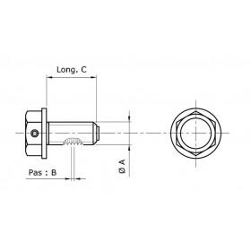 Bouchon de vidange TECNIUM non-aimanté alu noir M19x1,5x14
