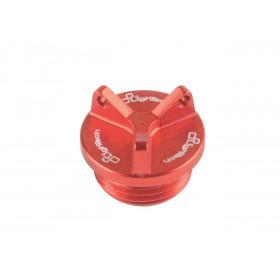 Bouchon de carter d'huile LIGHTECH 3 trous rouge M22 x 1,5