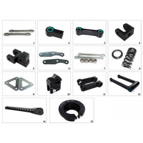 Kit de rabaissement de selle TECNIUM construction 1 Kawasaki KLX 250