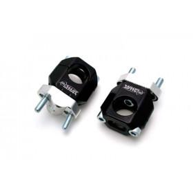 Pontets à crans Ø22,2mm, finition noir