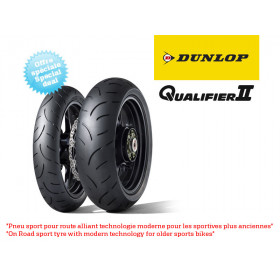 Train de pneus Hypersport DUNLOP Qualifier II (120/70ZR17 + 190/55ZR17)
