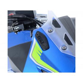 Caches-orifice rétroviseur R&G RACING noir Suzuki GSX-250R