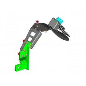 """Support de plaque ACCESS DESIGN déporté """"ras de roue"""" noir Yamaha MT-09 Tracer"""
